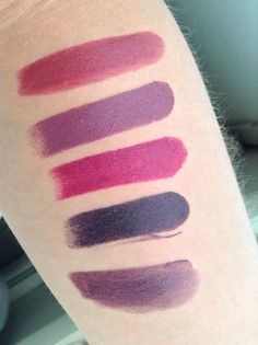 Swatches of purple lipsticks in my collection: Revlon Colorburst ...