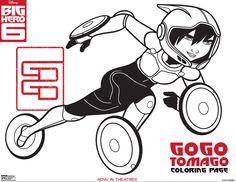 Go Go Tomago Coloring Page.