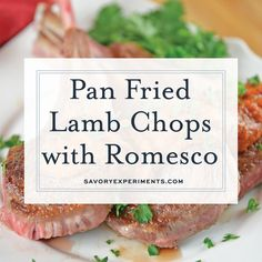 Pan Fried Lamb Chops, are one of the easiest dinners to make! This is a easy lam. Pan Fried Lamb Chops, are one of the easiest dinners to make! This is a easy lamb recipe to serve for Easter dinner or any other night of the year! Easy Lamb Recipes, Lamb Chop Recipes, Easy Healthy Recipes, Dinner Recipes, Meat Recipes, Beef Recipe Video, Recipe Videos, Best Lamb Chop Recipe, Chopped Steak