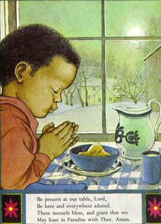 """""""Prayers for Children"""" pictures by Eloise Wilkin, 1974"""
