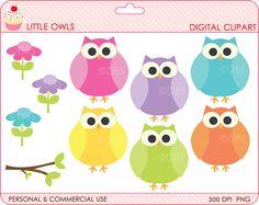 owls clipart digital clip art woodland animals - BUY 2 GET 2 FREE - Little Owls Digital Clipart. $3.00, via Etsy.
