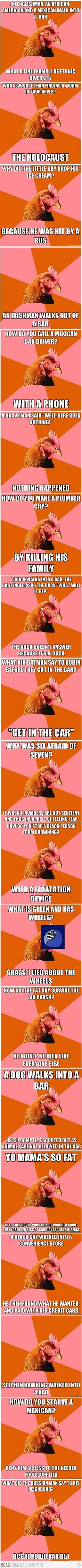Anti-joke chicken- who I secretly think is Dwight Shrute!
