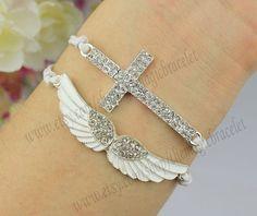 BraceletDiamonds bracelet / Angels Wing by themagicbracelet, $5.99