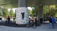 Skatepark sous une autoroute à Drammen, en Norvège