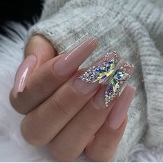 In seek out some nail designs and some ideas for your nails? Here's our set of must-try coffin acrylic nails for modern women. Aycrlic Nails, Glam Nails, Bling Nails, Coffin Nails, Bling Nail Art, Rhinestone Nails, Stiletto Nails, Rhinestone Nail Designs, Nail Crystal Designs