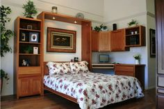 Queen Chalet Office with Wall Bed Open