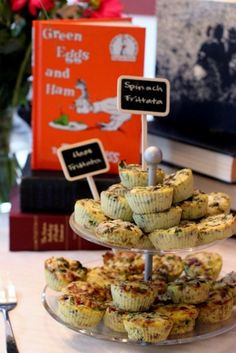 Children's book themed baby shower by Daily Garnish - Green Eggs and Ham