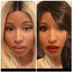 Remake I did # Nicki minaj red lipstick classy look.