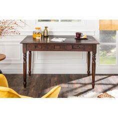 HEMINGWAY mahagóni íróasztal | Klasszikus fa íróasztal Office Table Design, Fa, Entryway Tables, Solid Wood, Furniture, Home Decor, Decoration Home, Room Decor, Home Furnishings