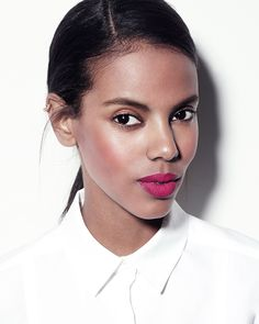 Each day this week, Gucci Westman shares a new fresh take on summer's best makeup ideas. See how to apply fuchsia lipstick perfectly at Vogue.com.