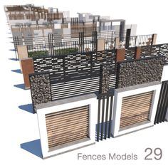 modern fence collection model low-poly max obj mtl fbx 1 Best Picture For Garden Design vegetable For Your Taste House Fence Design, Modern Fence Design, Garden Design, Decoration Facade, Boundry Wall, Compound Wall Design, Tor Design, Gabion Wall, Gabion Fence