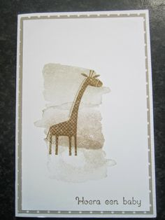 Zoo Babies by Stampin Jacqueline do in colors tooo