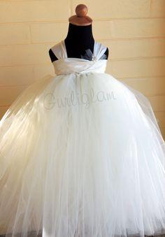 Ivory Flower Girl Dress Tutu dress by Gurliglam on Etsy, $89.00