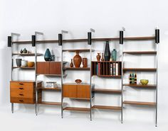 The Comprehensive Storage System or CSS designed by George Nelson and Associates and manufactured by Herman Miller from 1957-1973. Photo: Sothebys #mcmdaily #georgenelson #georgenelsonandassociates #hermanmiller #usa🇺🇸 mcmdaily.com