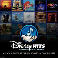 Your favorite Disney songs can be found in one place. Check out Disney Hits Playlist, the happiest playlist on Earth 🎶 Disney Playlist, Disney Songs, Song Playlist, Disney Music, Disney Facts, Disney Fun, Disney Pixar, Walt Disney, Disney Beast