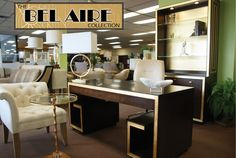 We feel like you need a martini in your hand when you sit behind this desk.  The Bel Aire Collection is now available!