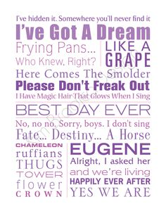 Disney's Tangled Movie Quotes the best quotes EVER I'm OBSESSED <3 <3 !!!!!!!!!! :D