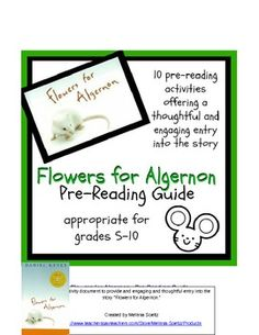 flowers for algernon study guide questions