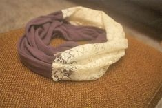 DIY Lace Panel Infinity Scarf : Factory Direct Craft Blog