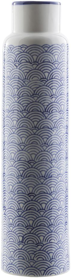 Iona Traditional Table Vase Navy, Ivory, Cobalt