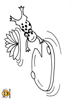 Free Lily Pad Frog Coloring Pages For Kids Which Includes A Color Along Video Tutorial