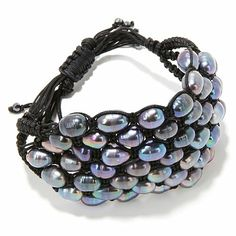 Colleen Lopez Cultured Pearl and Hematite Bracelet      #274-297 on HSN.com