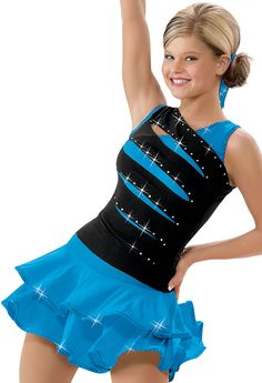 my sassy class might think this is really cool! Rhinestone Front Slash Dress; Weissman Costumes