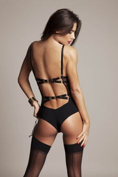 Sylvia Peep Body FEATURING SWAROVSKI® CRYSTALS + SUSPENDERS – Tatu Couture