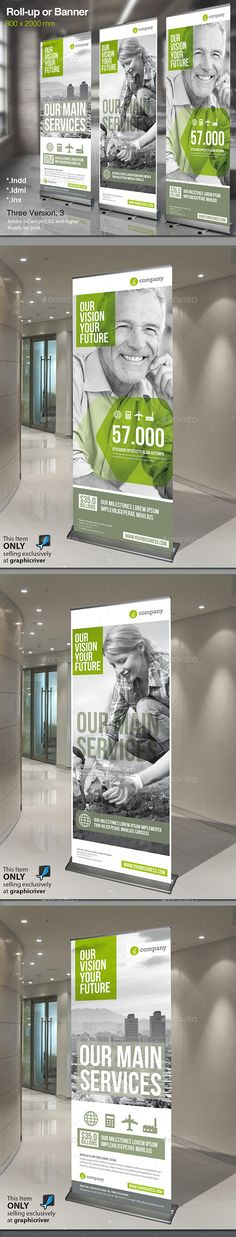 Buy Corporate Roll-up or Banner by MrTemplater on GraphicRiver. Modern and clean design for banner/rollup. Perfect for PR agency or other business promotion. All elements are editab. Banner Design, Signage Design, Booth Design, Brochure Design, Branding Design, Vinyl Banner Printing, Vinyl Banners, Pop Up Banner, Web Banner