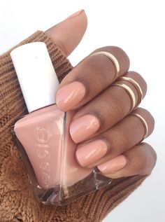 Essie Sew Me Swatch -- It's the perfect nude nail polish that flatters so many skin tones.