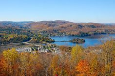 The Laurentians, Qc, Canada, Fall time, Mont-Tremblant