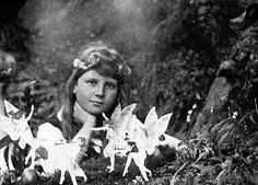 The Cottingley Fairies appear in a series of five photographs taken by Elsie Wright Frances Griffiths, two young cousins who lived in Cottingley England.