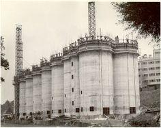 Cocoa Silos under construction, August 19, 1950