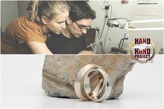 Hand In Hand: Boróka és Dani saját kezűleg készített többszínű arany jegygyűrűi