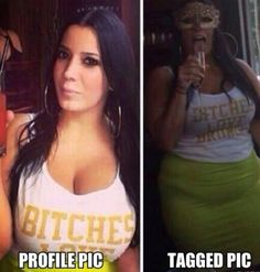 Profile Pic VS Tagged Pic.. :D