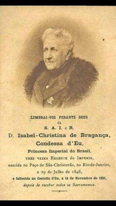 Lembrança entregue na missa de sétimo dia em sufrágio da alma de Sua Alteza Imperial e Real a princesa Isabel de Bragança, condessa d'Eu.
