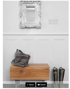 • Note: This is an example of a more modern wainscoting - it looks like it's a whole piece that's just attached to the wall.. if that's the case this might 'conceal' our lead problem??