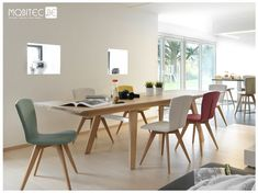 Why not playing with colours when choosing your chairs? This is sure to bring warmth and happiness to your interior!