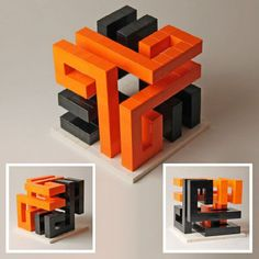 Snake Cuboids: A LEGO® creation by Tom Remy : MOCpages.com