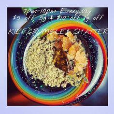 7pm-10pm $5 off .5G & $10 off 1G  KIEF,CRUMBLE,SHATTER  #goldennuggetcollective #gnc #medicalmarijuana #prop215 #medicate #indica  #hybrid #sativa #dispensary #smoke #maryjane #Friday #weekend