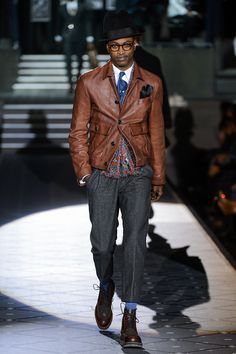 LEATHER BOMBER PLEASE. dsquared2-milan-fashion-week-fall-2013-11.jpg