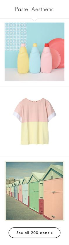"""""""Pastel Aesthetic"""" by liz-wade ❤ liked on Polyvore featuring pictures, tops, shirts, t-shirts, tees, pink top, pink shirt, marni edition, fotos and photos"""