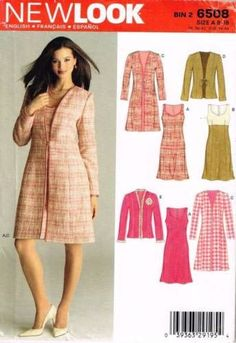 6508 Sewing Pattern New Look Ladies Outfit 8 10 12 14 16 18