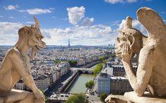 Gargoyles Notre Dame Paris France
