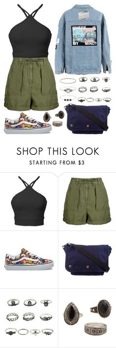 """""""Somehow"""" by staysaneinsideinsanity ❤ liked on Polyvore featuring Topshop, Vans, Marc Jacobs, MANGO and Accessorize"""
