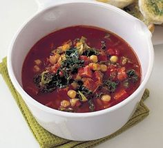 Sizzling Chorizo & chickpea soup