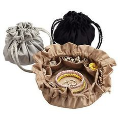 The Container Store > Drawstring Jewelry Pouch by baggallini®