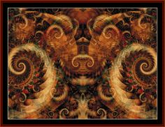 FR-276 - Fractal 276 - All cross stitch patterns - - Abstract - Fractals - Graphic Art - Whimsical - Cross Stitch Collectibles