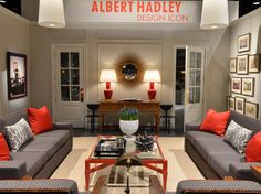 designed by Savage Interior Design, A Tribute to Albert Hadley at the 2013 Antiques and Garden Show.  Nashville, Tennessee
