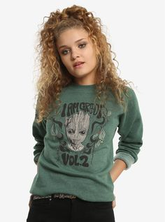 MARVEL GUARDIANS OF THE GALAXY VOL. 2 I AM GROOT SWEATSHIRT // What's cuter than Groot? Baby Groot!